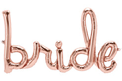 Rose Gold Bride Script Balloon