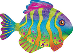 Colorful Fish Holographic Balloon