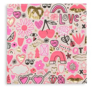 Large Love Note Napkins