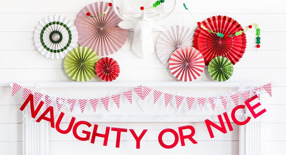 Holiday Naughty or Nice Felt Banner