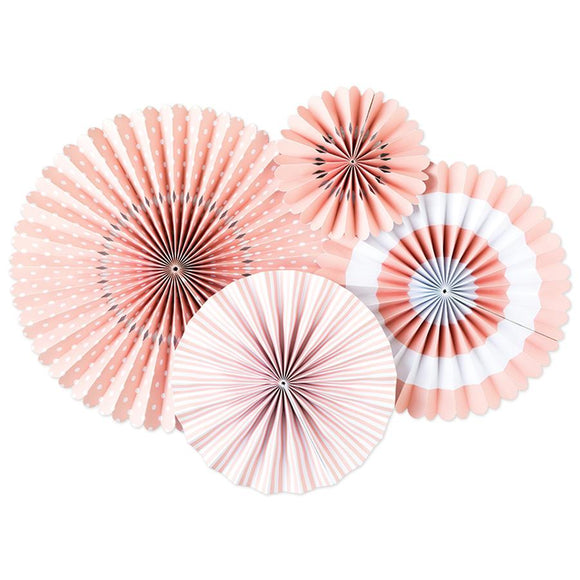 Blush Pink and White Party Fans
