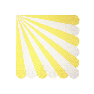 Meri Meri Yellow Fan Stripe Napkins (small)