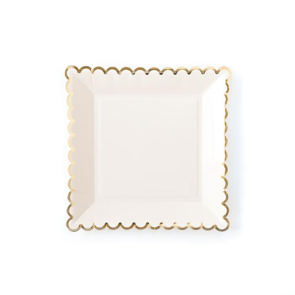 Cream Scalloped Plate