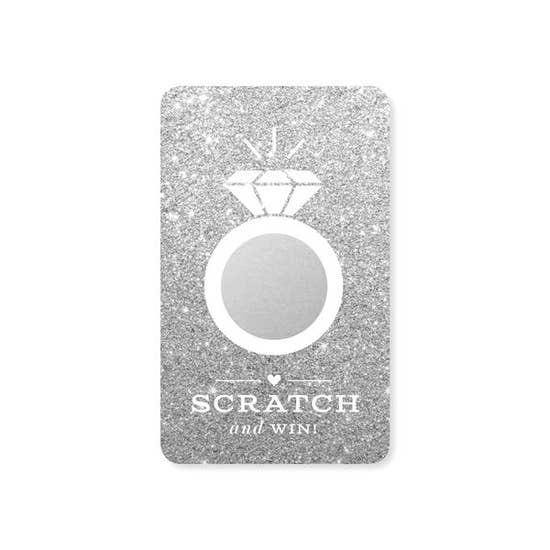 Silver Glitter Bridal Scratch-off Game