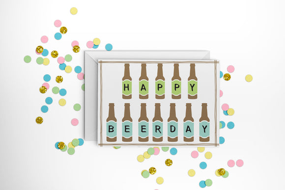 Happy Beerday Card