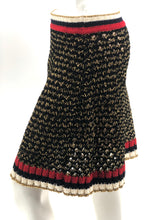 Laden Sie das Bild in den Galerie-Viewer, Gucci Knit Skirt Black Gold