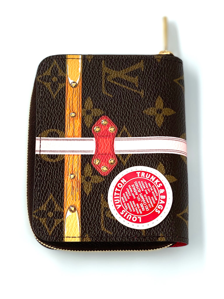 louis Vuitton Zippy Coin Purse  limited Edition Summer Trunks Monogram Canvas
