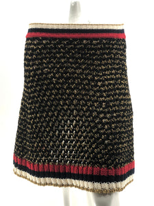 Gucci Knit Skirt Black Gold