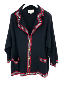 Gucci Silk cotton cardigan with stripes