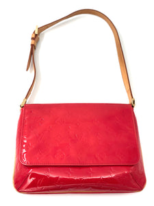 Louis Vuitton Red Vernis Thompson Street Shoulder Bag