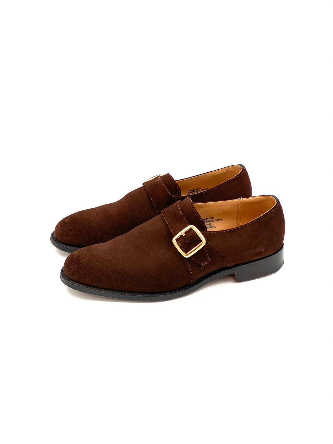 Church's Herren Wildleder Formal Business Slipper Schuhe Monkstrap odsey Braun