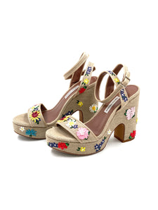 Tabitha Simmons Calla Meadow Embroidered Sandals