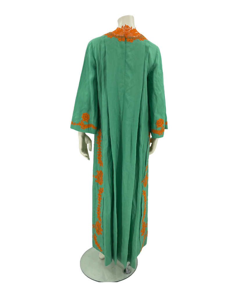 Gucci Crocheted lace-trimmed linen kaftan