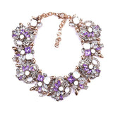 Luxury Crystal Maxi Choker Statement Necklace - Quaintrelle Collection