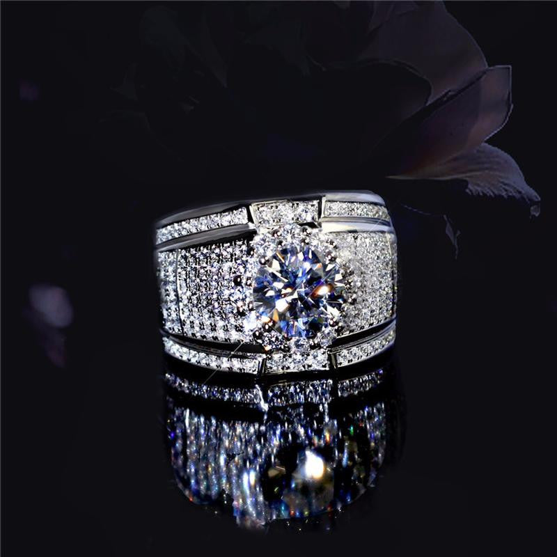 Luxury 5A Cubic Zirconia  Exclusive Designer Statement Ring - Quaintrelle Collection