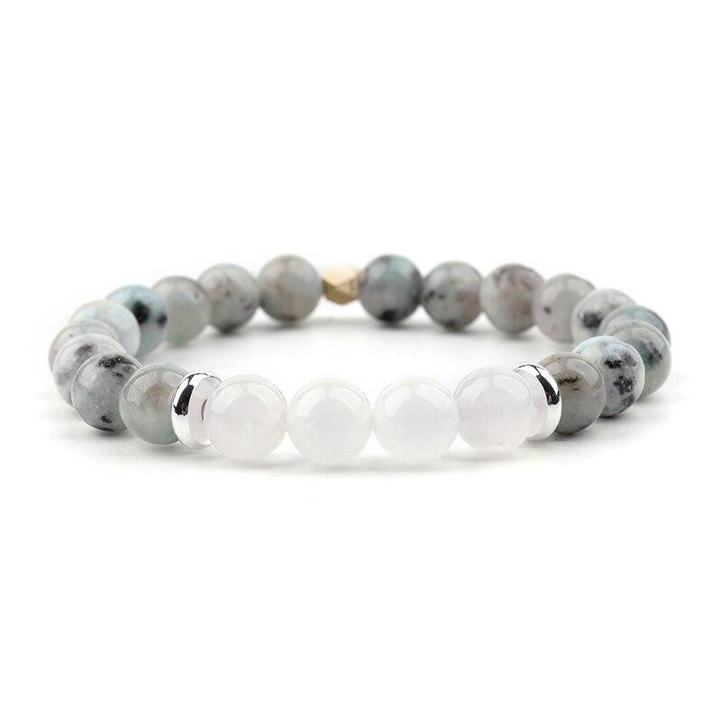 Classic Natural Quartz Agate Beaded Bracelet - Quaintrelle Collection
