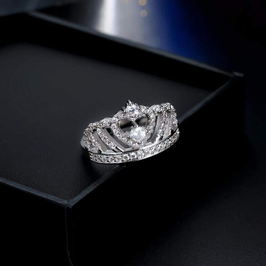 Premium Princess Crown Ring - Quaintrelle Collection