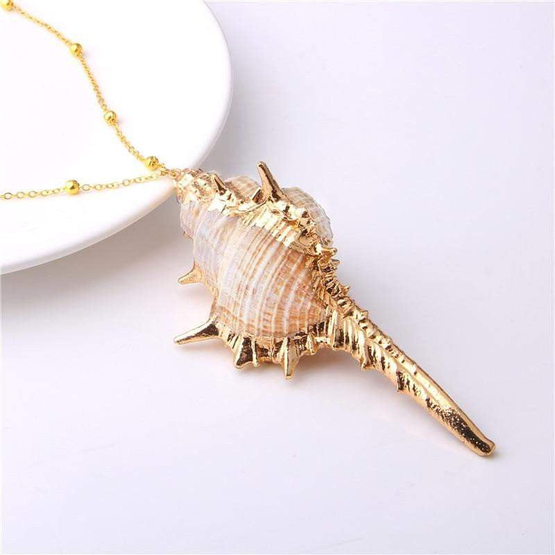 Trendy Handmade Conch Shells Necklace - Quaintrelle Collection