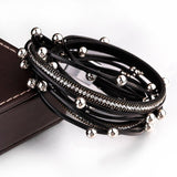 Handmade Bohemian Leather Layered Bracelet - Quaintrelle Collection