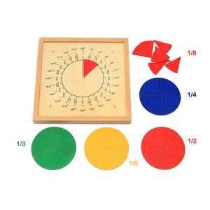 Juliana Math Toy Color match Fraction Board Educational Monterssori Wooden baby toys for Children