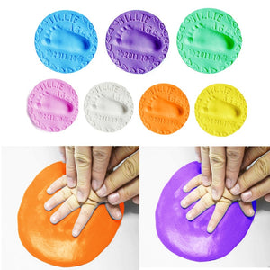 20g Baby Care Handprint Footprint Imprint Mud Hand Foot Inkpad Drying Soft Plasticine Ultra-Light Clay Infant Stamps Toys