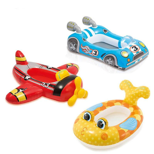 Baby Summer Swimming Seat Child Swimming Pool Seat Float Aid Trainer Water Cartoon Boat Swimming Circles Water Play