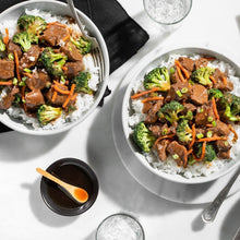 Mongolian-Style Beef with Crunchy Broccoli and Jasmine Rice