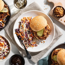 Pulled Pork Sandwiches with Crispy Onions and Creamy Coleslaw