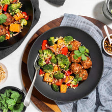 Thai-Style Meatballs with Roasted Vegetables