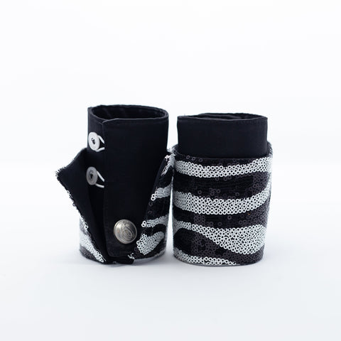 Glitzy Zebra French Cuffs
