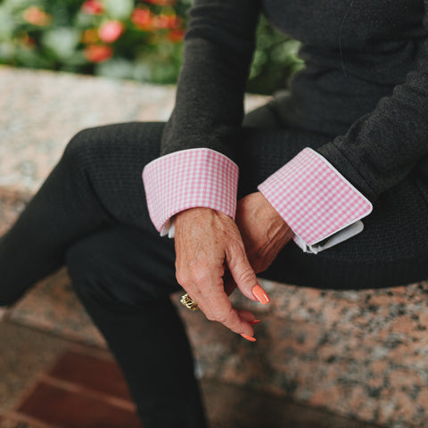 Tickled Pink French Cuffs