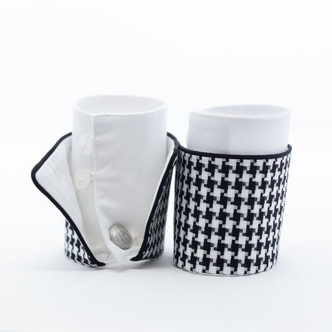 Black & White Houndstooth French Cuffs