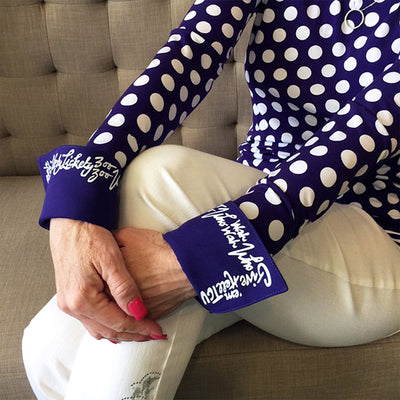 TCU Chant French Cuff Purple