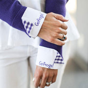 go frogs french cuffs close-up