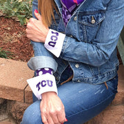 TCU Logo French Cuff Purple