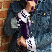 TCU Logo French Cuff Purple Close-up