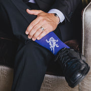 TCU dress socks close-up