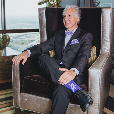 TCU dress socks gentleman
