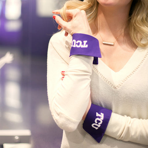 tcu white french cuff close-up