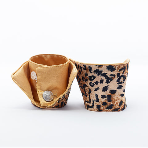 Cheetah Gold French Cuffs