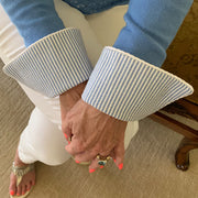 Sky Blue Seersucker French Cuffs