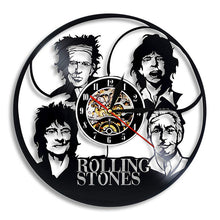 Load image into Gallery viewer, Wall Clocks - Four band - Jagger, Richards, Wood, Watts