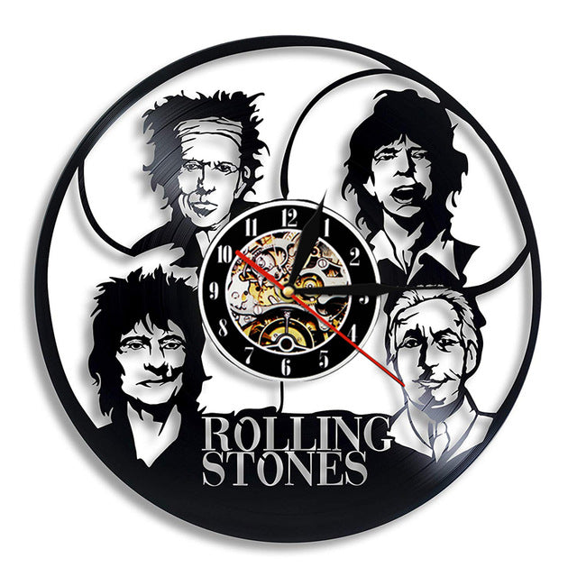 Wall Clocks - Four band - Jagger, Richards, Wood, Watts
