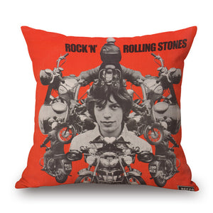 Rock & Rolling Stones Pillow