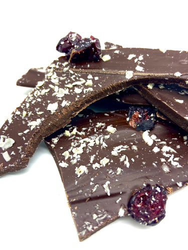 Cranberry and white chocolate shards