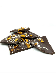 Mango and coconut chocolate shards