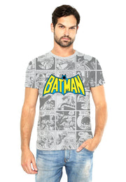 PLAYERA FULL PRINT BATMAN LOGO Y COMICS RETRO