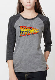 BLUSA RANGLAN BACK TO THE FUTURE LOGO