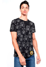 PLAYERA FULL PRINT GUNS AND ROSES PATRON CARAS