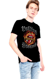 PLAYERA ROLLING STONES FLAMING TATTOO